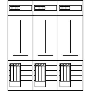 ZSD-Z36A1055, Zählerfeld, 3-feldrig, vorbereitet, Version Z36A1055