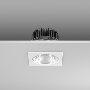 Einbaudownlight LED/23,9W-3000K 135x135x114, eng, 2650 lm