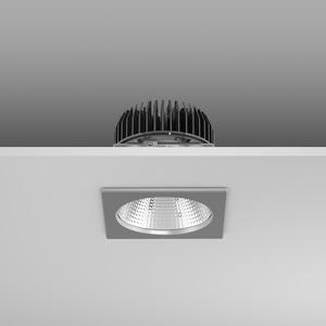 Einbaudownlight LED/8,7W-4000K 135x135x114, breit, 1150 lm