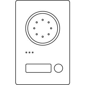 Acero Edelstahl-Türstation Audio, 1 WE, Audio, Edelstahl