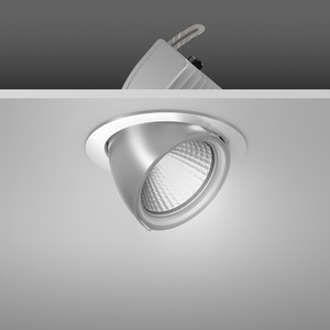 Einbaustrahler LED/23,9W-3000K D172, H153, engstr., 2700 lm