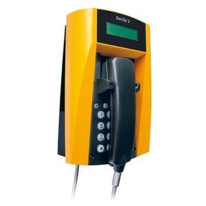 Wetterfestes Telefon FernTel 3 CUTR    schwarz/rot   ohne Display   mit Panzerschnur
