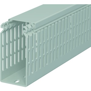 LKV N 10050, Verdrahtungskanal 100x50x2000, PVC, steingrau, RAL 7030