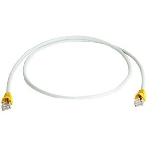 Patchkabel S-FTP Cat.6A(IEC) , 10,0 m Tülle gelb, LSZH grau, Cross-Over