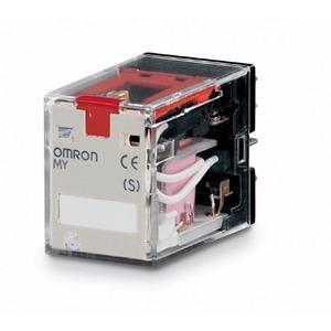 MY4IN 220/240VAC (S), Mechanische und LED-Anzeige, feststellbare Prüftaste