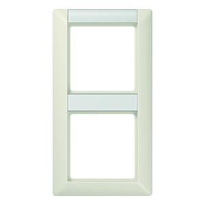 AS 582 NA, Rahmen, 2fach, Schriftfelder 13/12,4 x 55,5 mm für senkrechte Kombination, weiß