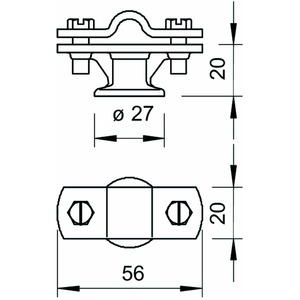 113 Z-K 8-10, Leitungshalter 8-10mm, Zn, G