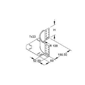 REK 110, Eckanbaustück für KR, Höhe 110 mm, mit ungelochtem Seitenholm, Stahl, bandverzinkt DIN EN 10346, inkl. Zubehör