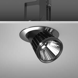 Einbaustrahler LED/45W-2700K D180, H303, eng, 3400 lm