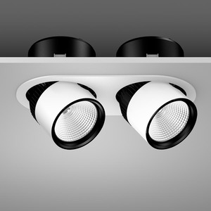 Einbaustrahler LED/54W-3000K,2lp. 360x180, breit, 5350 lm