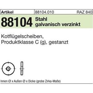 KFSB/ St. 6,4x 20 x 1,5 gal Zn