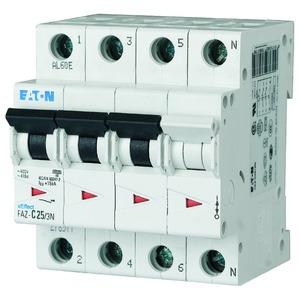 FAZ-B10/3N, Leitungsschutzschalter, 10A, 3p+N, B-Char