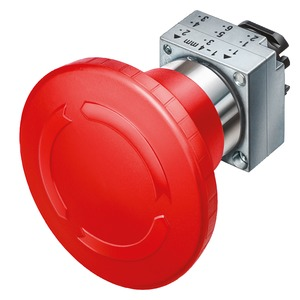 3SB3500-1AA20, Not-Halt-Pilzdrucktaster, 22mm, rund rot