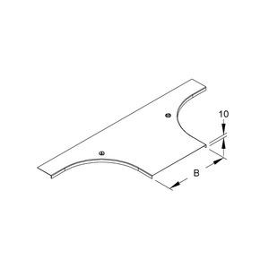 RTADV 100, Deckel für Anbau T-Stück für KR, Breite 104 mm, mit Drehriegel, Stahl, bandverzinkt DIN EN 10346