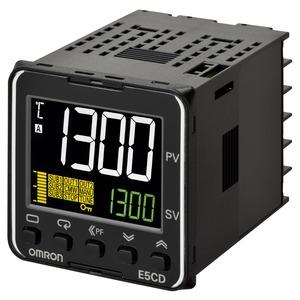 E5CD-QX2A6M-001, Temp. controller, PRO, 1/16 DIN (48 x 48 mm), 1 x 12 VDC pulse OUT, 2 AUX, EVT. I/P 2, Ht. Burnout SSR fail., 100 to 240 VAC