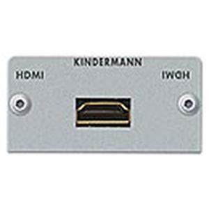 Anschlussblende mit Kabelpeitsche, HDMI - Highspeed mit Ethernet Halbblende, Aluminium eloxiert