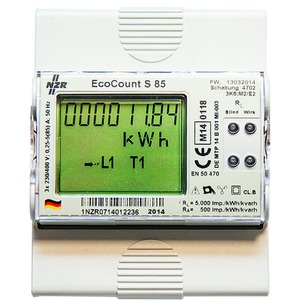 EcoCount S, 5(85)A S0 MID, EcoCount S, 5(85)A 3x230/400 V Drehstromzähler S0 MID