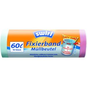 60 l Fixierband Müllbeutel VPE, Swirl® 60 l Fixierband Müllbeutel, VPE
