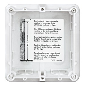 1-moduliger Unterputzkasten aus Kunststoff zum Einbau der SFERA Türstationen, Horizontal und vertikal anreihbar