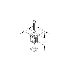 755, Reihenschelle, für Kabel-Ø 6-38 mm, Kunststoff PS, RAL 7035, lichtgrau