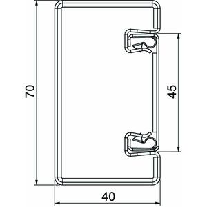 BSKM 0407, Brandschutzkanal I30 bis I120 mit Innenbeschichtung 40x70x2000, St, FS