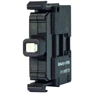 M22-LED-W, Leuchtelement, LED, weiß, Frontbefestigung, 12 - 30 V AC/DC, Schraubanschluss
