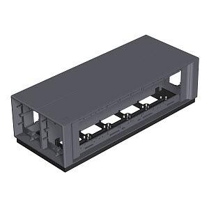 T12L 00C 9011, Telitank 375x154x109, PA, graphitschwarz, RAL 9011