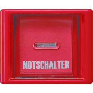 AS 561 GL RT, Abdeckung, Glasscheibe, rote Wippe mit Linse, für Schalter und Taster
