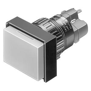 Leuchtdrucktaste I SP 1Ö+1S L 18x24 Au/Ag