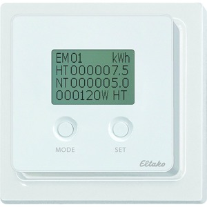 FEA65D-wg, Energieverbrauchsanzeige wg reinweiß glänzend mit Display wg reinweiß glänzend