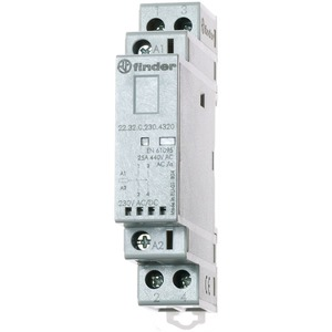 22.32.0.024.4320, Schütz für Reiheneinbau, 2 Schließer 25 A, Spule 24 V AC/DC, LED-Anzeige
