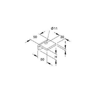 HSK 10, Profilklemme, Höhe 10 mm, Stahl, feuerverzinkt DIN EN ISO 1461