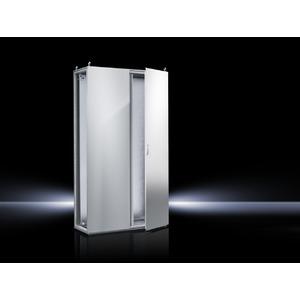 TS 8006.500, Topschrank-System lackiert zweitürig, mit Montageplatte, RAL 7035, TS 8006500