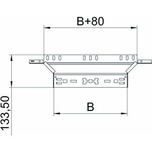 RAAM 120 FS, Anbau-Abzweigstück mit Schnellverbindung 110x200, St, FS