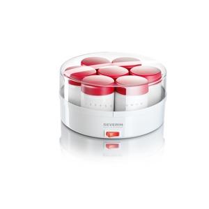 Joghurt-Fix, 14 Portionsgläser, weiß-rot