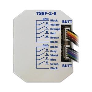 KNX eco+ Tasterschnittstelle, für 8 Einzeltasten mit Einzelader-Anschl.;