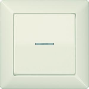 AS 590 KO5, Abdeckung, Linse, Lichtleiter, volle Platte, für Wipp-Kontrollschalter, Tast-Kontrollschalter, beleuchtbare Taster und Taster BA 1fach