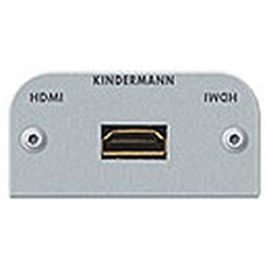 Anschlussblende mit Kabelpeitsche, HDMI - Highspeed mit Ethernet, Halbblende, Aluminium eloxiert