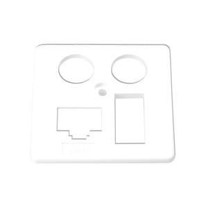 Zentralplatte EK4S LAN/TAE (50x50mm) anth