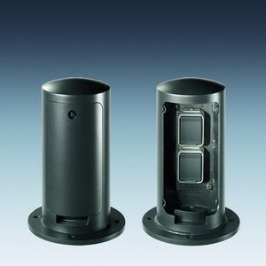Mini-Elektroversorgungspoller Petra ME VI, Stahl feuerverzinkt
