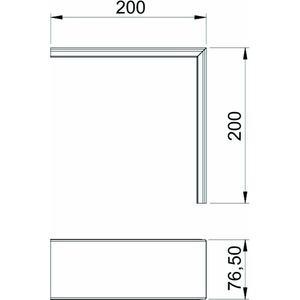 GK-OTGACW, Oberteil Außeneck, glatt, PVC, cremeweiß, RAL 9001