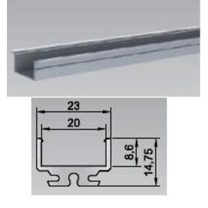 80-XT01, Bilton Aluminium Einbauprofil XT01