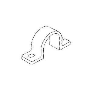 795/20, Befestigungsschelle, Pg 13,5, NW 19, für Kabel-Ø 20-21,5 mm, Kunststoff PE, RAL 7035, lichtgrau