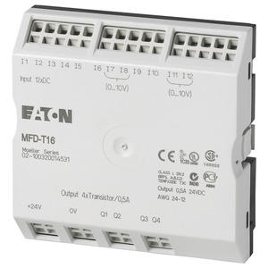 MFD-T16, E/A-Modul für MFD-Titan MFD-CP8/CP10, 24VDC, 12DI(4AI), 4DO-Trans