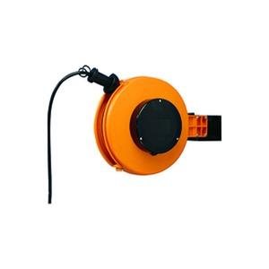 FT 260.0308, Kunststoff-Kabelaufroller mit Flachschleifringen 8m Kabel H05VV-F 3x1,5