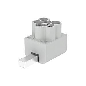 AS 3x16, Anschlussklemme 3x16mm² 16mm², lichtgrau, RAL 7035