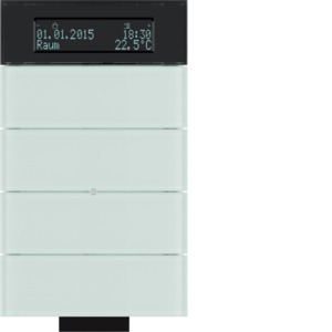 IR-Tastsensor 5fach mit Temperaturregler und Display B.IQ Glas, polarweiß