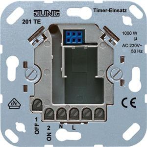 201 TE, Zeitschaltuhr-Einsatz, Nennspannung: AC 230 V ~, 50 Hz, Schaltertyp: 1 Schließer