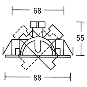 NV-Einbaustrahler    GX5,3/20,50W, nick.
