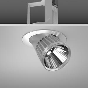 Einbaustrahler LED/45W-2700K D180, H303, eng, 4350 lm